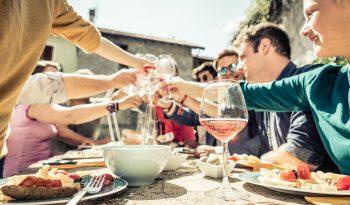 vinho e churrasco